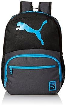 PUMA Kids  Little Boys  Logo Backpack Black/Blue Youth Size