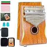 EASTROCK Kalimba 17 Keys Thumb Piano with Kalimba Case and Kalimba Music Book,Portable Mbira Finger Piano for Beginners(Kalimba Thumb Piano)