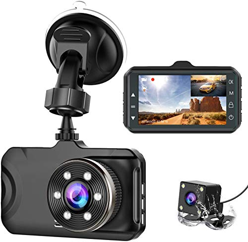 LESHP Dashboard Front and Rear 1080P Full HD Dual Dashboard Cameras