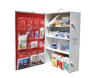 Tactical First Aid Kit: Medique 745M1 3-Shelf Industrial Side-Opening First Aid Cabinet, Filled by Medique
