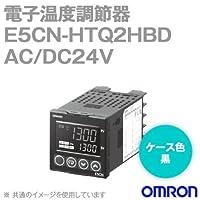 オムロン(OMRON) E5CN-HTQ2HBD 電子温度調節器 プログラムタイプ 端子台タイプ AC/DC24V ブラック (電圧出力(SSR駆動用)) NN