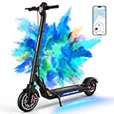 2021 MICROGO M5 Electric Kick Scooter for Adults, Pneumatic Off Road Tires, Large LED Panel, App Control, 350W Motor, 19 MPH & 18.5 Miles, Long-Range Battery, for Commuter/Travel, Portable & Foldable