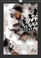 Papillon Art (Wandkalender 2022 DIN A4 hoch): 12 Schmetterlinge kuenstlerisch dargestellt, mit fein ausgearbeiteteten Details, handgezeichnet. (Monatskalender, 14 Seiten )