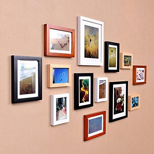 Caim Fotolijst, fotowand-woonkamer-slaapkamerwand-combinatiewand van vaste hout, witte restaurantwand wanddecoratie