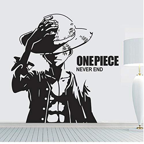 One Piece Ruffy Cartoon wandaufkleber Vinyl wandkunst tapete dekoration wandbild wandaufkleber 59x61cm