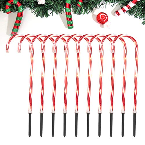 Christmas Candy Cane Pathway Lights: 10 Pack 28