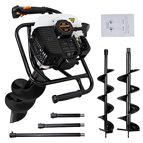 DC HOUSE 52cc 2.4HP Gas Powered Post Hole Digger...