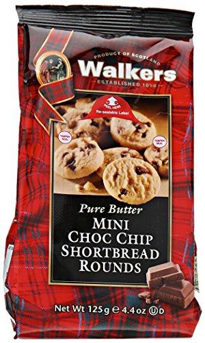 Walkers Shortbread Mini Chocolate Chip Shortbread Cookies, 4.4 Ounce Box