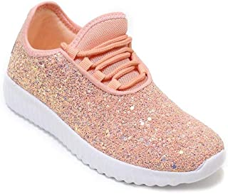 Link Lace up Rock Glitter Fashion Sneaker For Children/Girl/Kids