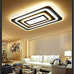 XYJGWDD 84W LED Ceiling Light Ultra Slim Modern Energy Saving LED Dimmable Ceiling Lamp for Living Room Bedroom Kitchen [Energy Class A (Color : White+internal heating) #1