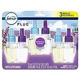 Febreze Plug in Air Freshener, Odor Eliminating Scented Oil Refill, Mediterranean Lavender, 3 Count