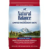 Natural Balance L.I.D. Limited Ingredient Diets Dry Dog Food, Sweet Potato & Bison Formula, 26 Pounds, Grain Free