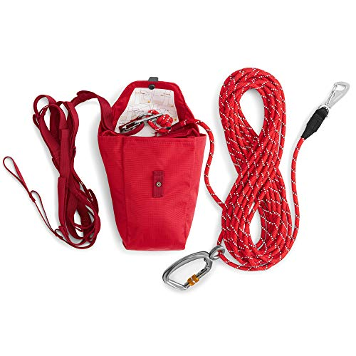 RUFFWEAR - Knot-a-Hitch Dog Hitching System for Campsites, Red Currant