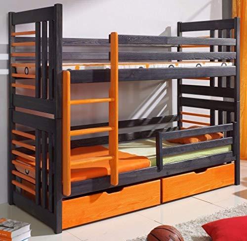 Kinderbett Etagenbett Rollo Stockbett Doppelbett Hochbett aus Holz 16