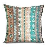 XCNGG Funda de Almohada Linen Throw Pillow Cover Case Chevron Shell Coastal Decorative Pillow Cases Covers Home Decor Square 20 X 20 Inches Pillow...
