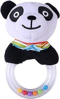 Plush Cartoon Animal Doll Scarf Panda Hand Stick Baby Toy Children's Gift Cartoon Teether Plush Ring Rattle