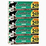 Gambler Green Menthol 100mm (100s) Pre-Priced RYO Cigarette Tubes 200ct Box (5 Boxes)