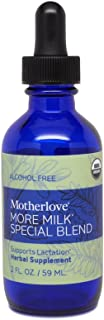 Motherlove More Milk Special Blend Alcohol Free Tincture (2oz) Herbal Lactation Supplement w/ Goat's Rue to Build Mammary ...