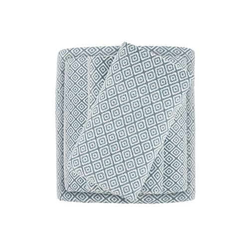 True North by Sleep Philosophy Cozy Brushed Microfleece Ultra Soft Cold Weather Sheet Set Bedding, King, Blue Diamond