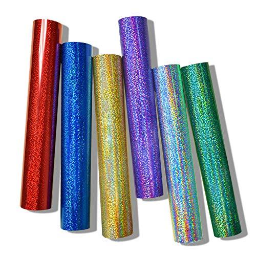Hoja de vinilo holográfica cromada para manualidades de 12 x 60 pulgadas (1 x 5 pies) para decoración de camafeos y otros cortadores de manualidades