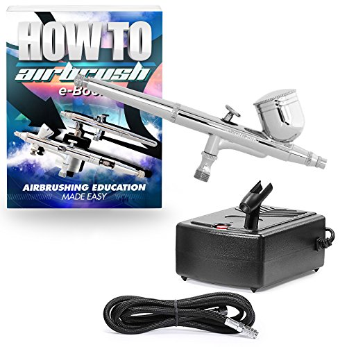 PointZero Multi-Purpose Dual-Action Airbrush Set - Mini Compressor Kit