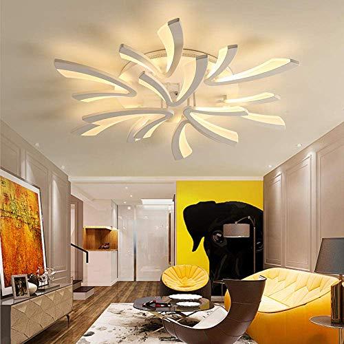 LED Moderne Deckenleuchte Dimmbar ,Wohnzimmerlampe mit Fernbedienung Farbwechsel ,Schlafzimmer Deckenlampe Deckenbeleuchtung Deckenbeleuchtung Kronleuchter Lampe,Dimming 9 heads/Ø98cm/38.58in