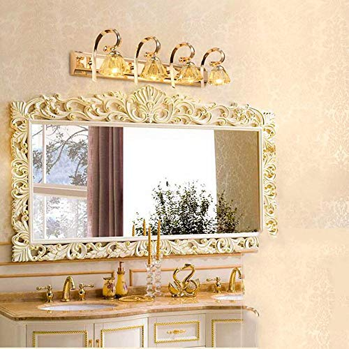 NA Home badkamerspiegel met 2 kopen, 3 kop, 4 kopen, Europese stijl, LED-spiegel, spiegel, spiegel, kasten, dresser, make-up, moderne lamp Jane Europees badkamer, spiegel, verlichting voor incl. lampen