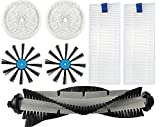 Replacement Accessories Kit for bissell 3115 7 piece set for Bissell SpinWave Hard Floor Expert Wet and Dry Robot Vacuum,1 Main Brush,2 Replacement Pads Wet and Dry,2 Side Brush,2 Filters