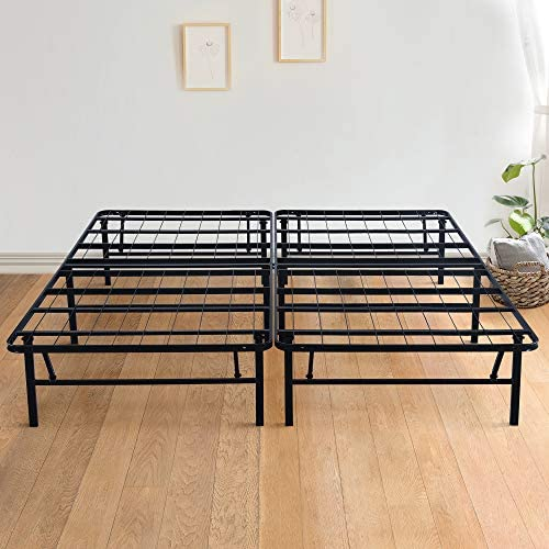 Olee Sleep 14 Inch Foldable Dura Metal Platform Bed Frame Queen Size Comfort Base Bed Frame product image