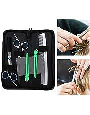Tijeras de corte de pelo profesionales de 5 piezas, tijeras de corte de pelo, herramientas de peluquería para cortar el cabello tijeras para cortar el cabello