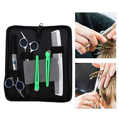 5 Stück Professionelle Haarschnittschere, Haarschnittschere, Friseur Schneiden Friseurwerkzeug Haarschnittschere Haarausdünnungsschere Ausdünnen Scherkamm Set Friseurschere