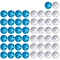 Plastic Golf Balls for Practice Swing Putter, Baseball Hitting Softball Batting Training - Limited Flight - Airflow Hollow 41mm Durable Ball for Indoor Simulators, Backyard, Driving Range (50 Pieces)