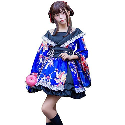 fagginakss Frauen Cosplay Kostüm Japanische Kimono Anime Traditionell Kleidung Japanischen Lolita Kleid Für Die Fotografie