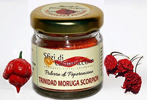 Polvere di Peperoncino Trinidad Scorpion Moruga Piccante Estremo 15gr