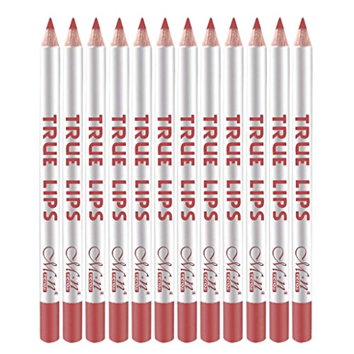12 Farben Wasserdicht Lipliner Lip Liner Pencil Set, Nicht Verblassen Lippenstift Pencil, Matte Lip...