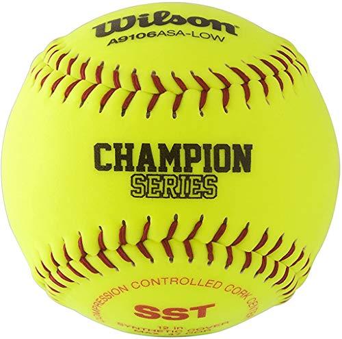 Wilson Sporting Goods A9106 ASA Series Softball (12-Pack), 12-Inch, Optic Yellow (WTA9106BASA-LOW)