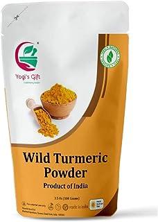 Yogi's Gift | 100% Pure Organic Wild Turmeric powder for face | 100 grams | Kasthuri manjal | Curcuma Aromatica | Amba hal...