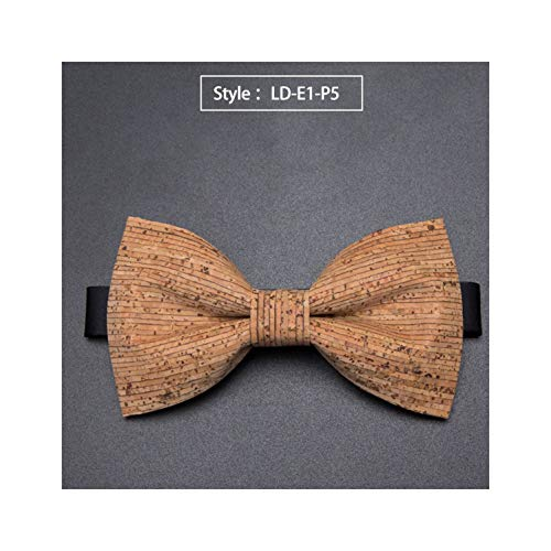 Cork Woodbowties Mens Novelty Handmade Solid Neckwear Mens Wedding Party Man Gift Accessories Men Bowties,Ld-E1-P5