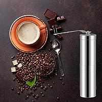 家庭と台所 キッチンコーヒー コーヒー用品 CZポータブル円錐バリミルマニュアルステンレス鋼のハンドクランクコーヒー豆グラインダー、容量:40グラム
