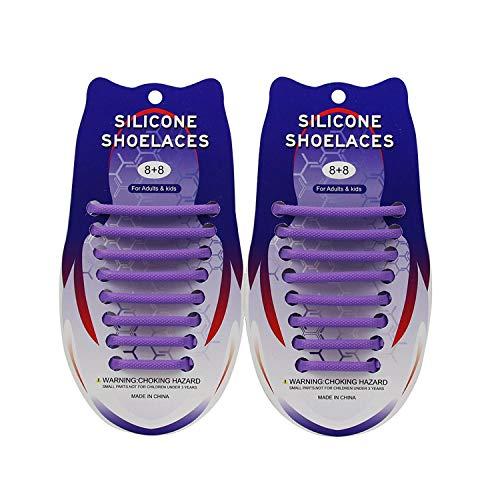 Cordones de silicona para zapatos semicircular, para hombre y mujer, de silicona,...