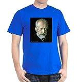 Photo de CafePress - Faces Tchaïkovsky - T-shirt 100% coton - Bleu - Medium