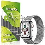 UniqueMe Lot de 5 films de protection d'écran pour Apple Watch Série 6 / Apple Watch SE 44 mm en TPU transparent transparent HD transparent et anti-rayures sans bulles (44 mm)