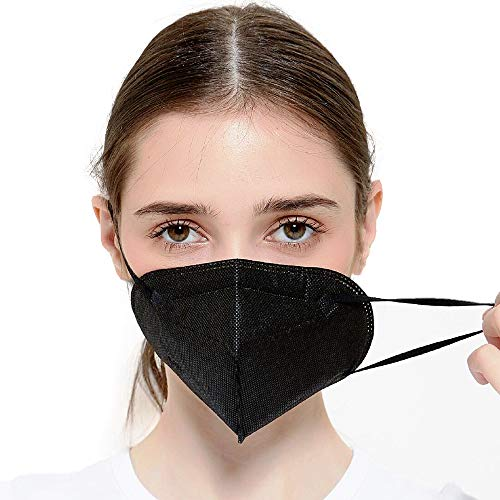 Tatopa FFP2 Maske Schwarz 20 Stück Atemschutzmasken | Mundschutzmaske Atemmaske Staubschutzmaske | CE Zertifiziert Staubmaske
