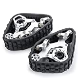 Snow Tires Track Wheel Tyre 4PCS Metal for 1/10 Axial SCX10 RC Truck Car Crawler