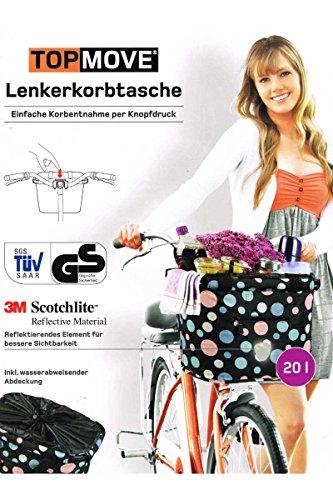 WB TopMove® Lenkerkorbtasche - 1-Knopfdruck-Korbentnahme-System (Beige/Braun)