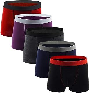 kolila Men's Underwear Boxer Briefs Sports Compression Shorts Athletic Cotton Breathable Short Leg Boxers Brief