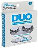 DUO Lash Kit D12, Thin and Wispy Fake Eyelash and Adhesive Set