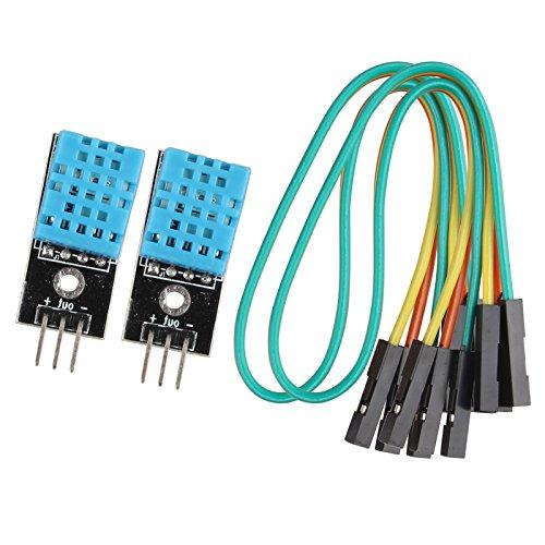 HALJIA Módulo digital sensor de temperatura y humedad DHT11 Compatible con Arduino, 2 unidades