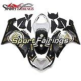 SG FAIRINGS ZX6R 2006 Full Fairing Kit For ZX6R 2005 2006 ZX-6R 05 06 Injection Mold ABS Plastic Motorcycle Bodywork Fairings - Lucky Strike White Matte Black