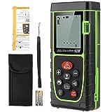 Medidor Laser de Distancia 40M, werpower Metro Laser IP54 con 1 Niveles de Burbuja, Medidor de Distancia Digital Portátil con Telémetro Láser con Pantalla LCD de 4 Líneas(Batería Incluida)